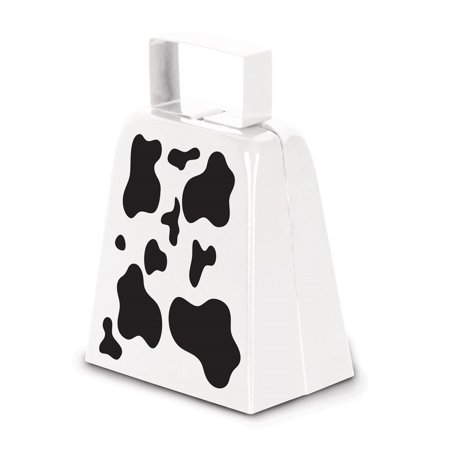 Club Pack of 12 Cow Print Western Country Farm-Style Cowbell Party Favor Decorations 4