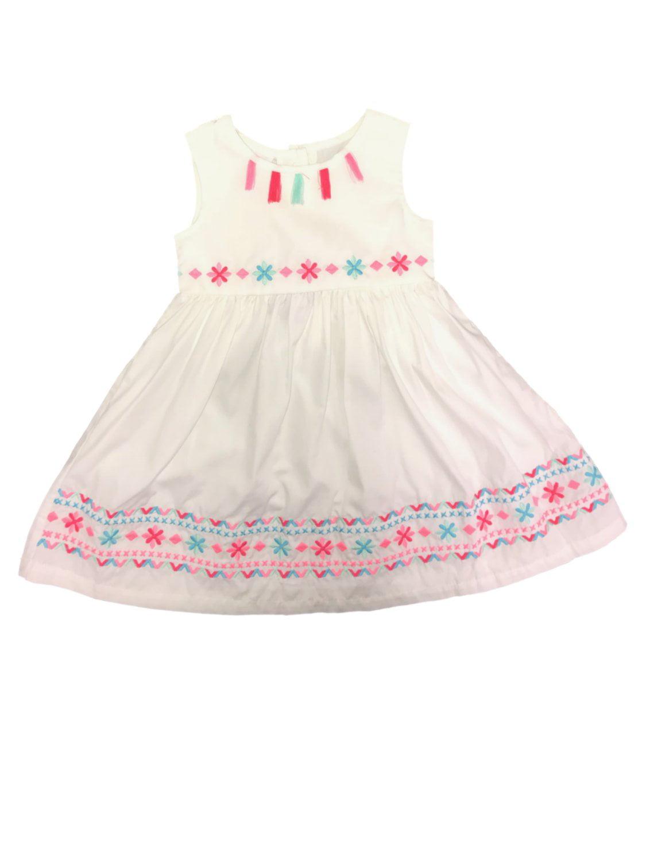 Blueberi Boulevard Baby GIRL/'S Floral Sparkling Sleeveless Asian Print SunDress