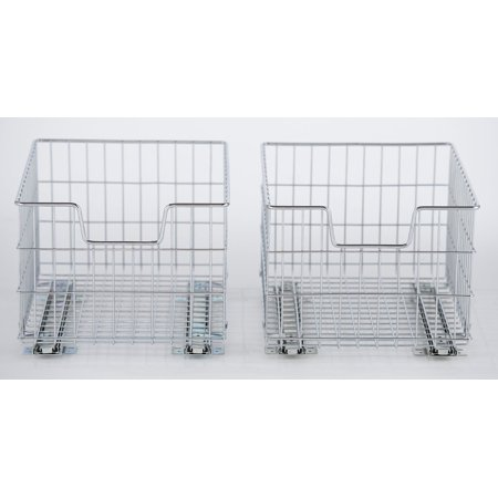 Hafele Basket Slides (TRINITY EcoStorage™ Wire Basket with Slides - 2)