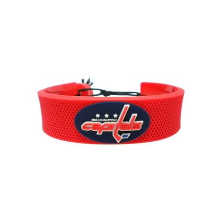 NHL Washington Capitals Sports Team Logo Leather Hockey Bracelet