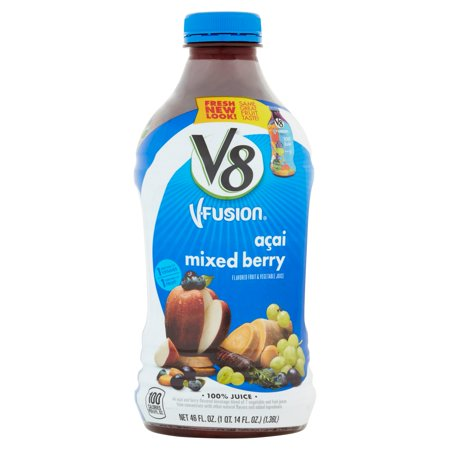 V8 V Fusion A Ai Mixed Berry Flavored Fruit   Vegetable Juice  46 Fl Oz