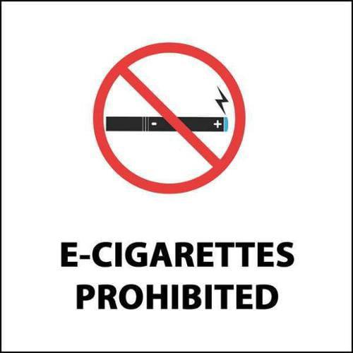 ZING 1868D No E-Cigarette Smoking Decal,PK2 G1862841