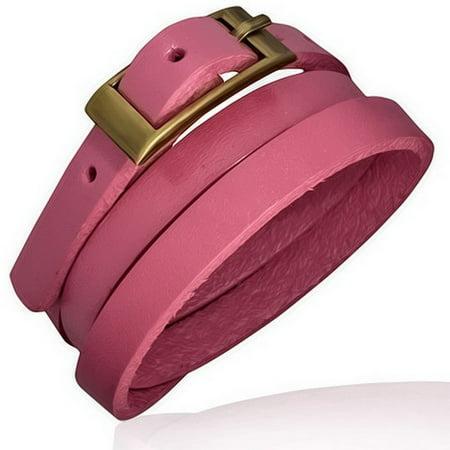 Fashion Alloy Faux Leather Multi-Wrap Bracelet Wristband - Faux Leather Fashion Bracelet