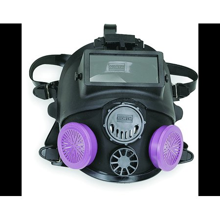 North Medium/Large Black silic 7600 Series Full Face Facepiece With Welding (North Face Equipment)