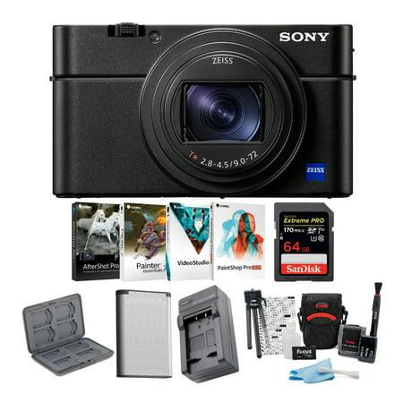 Sony RX100 VI 20.1 MP Premium Digital Camera with Photo Essentials Bundle