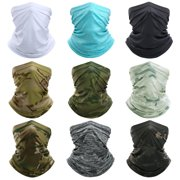 CVLIFE Balaclava Headwear Women Men Face Mask Mouth Mask Multi-use Tube Scarf Bandana Face Wristband HairBand Gaiter for Outdoor Cycling Hiking UV Protection Snowboards Dustproof Lightweight