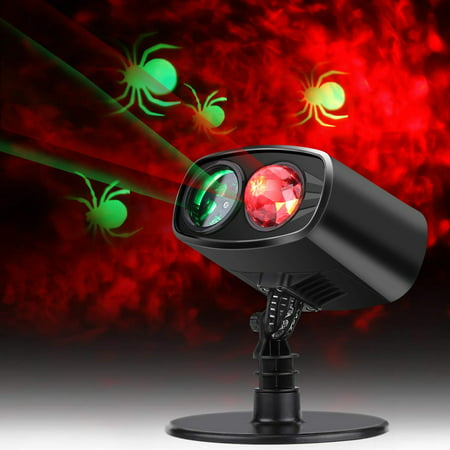 HURRISE Christmas Projector Lights, Led Projector Light Party lights Waterproof Landscape Spotlight for Valentine's Day Birthday Wedding Theme Party Garden Home Christmas Halloween Decorations (Red)