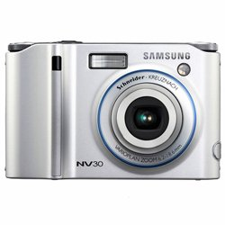 Samsung NV30 8.1MP Digital Camera with 3x Optical Image Stabilization Zoom (Silver) ()