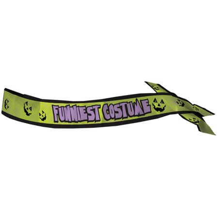 Adults Halloween Funniest Costume Winner Satin Sash Costume Accessory - Funniest Halloween