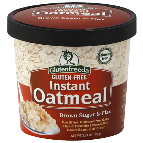 Glutenfreeda Brown Sugar & Flax Gluten-Free Instant Oatmeal, 2.64 oz, (Pack of 12)