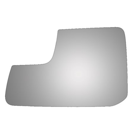 For 11-14 Ford Edge Left Driver Side Drop Fit Lower Flat Power Door Mirror Glass Power Door Mirror Gloss