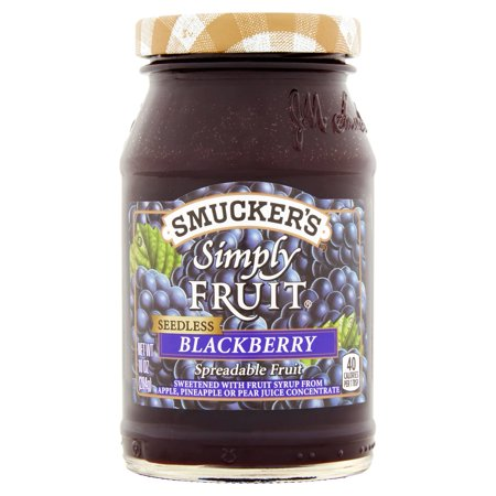 Smuckers Simply Fruit Blackberry Seedless Spreadable Fruit  10 Oz