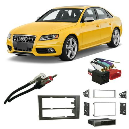 Fits Audi S4 2002-2008 w/ Symphony Aftermarket Harness Radio Install Dash Kit (Audi Radio Harness)