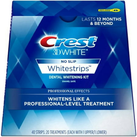 Crest 3D No Slip Whitestrips Professional Effects Teeth Whitening Kit 20