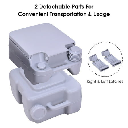 Gymax Outdoor Camping Hiking Portable Toilet Flush Potty - image 2 of 10