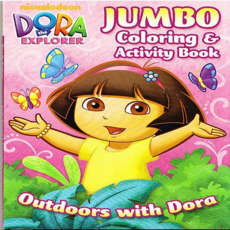 "Dora the Explorer Jumbo Coloring and Activity Book ""Outdoors with Dora"" by"
