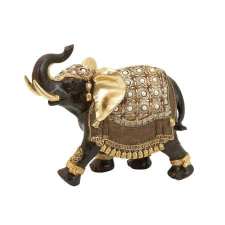 Polystone Diorama - Polystone Elephant With Intricate Detailing And Carvings
