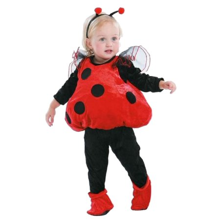 Totally Ghoul Infant Girls Plush Red & Black Ladybug Costume with Vest  Headband (Lady Bug Costume)