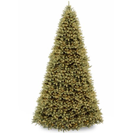 "National Tree Pre-Lit 12' ""Feel-Real"" Downswept Douglas Hinged Artificial Christmas Tree with 1200 Clear Lights"