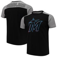80d9116157a Product Image Miami Marlins Majestic Threads Color Blocked T-Shirt - Black  Gray