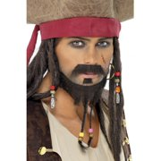 Captain Jax Pirate Costume Men's Beard Set