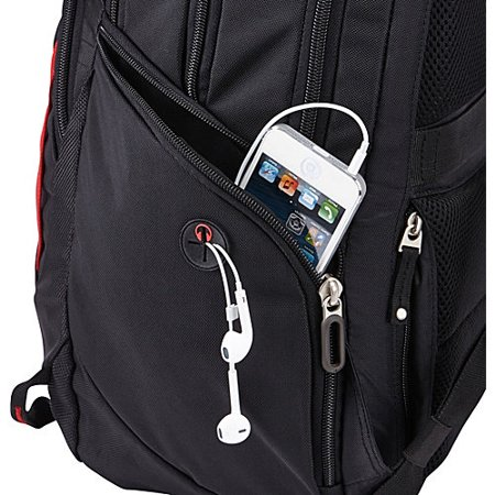 Case Logic BPED-115 Evolution Deluxe Laptop and Tablet Backpack with Lumbar Padding and Grab Handles, Black