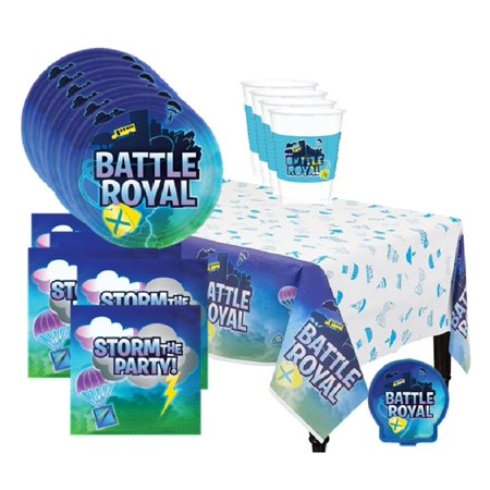 Fortnite Battle Royal Video Game Deluxe Birthday Party Supplies For 16