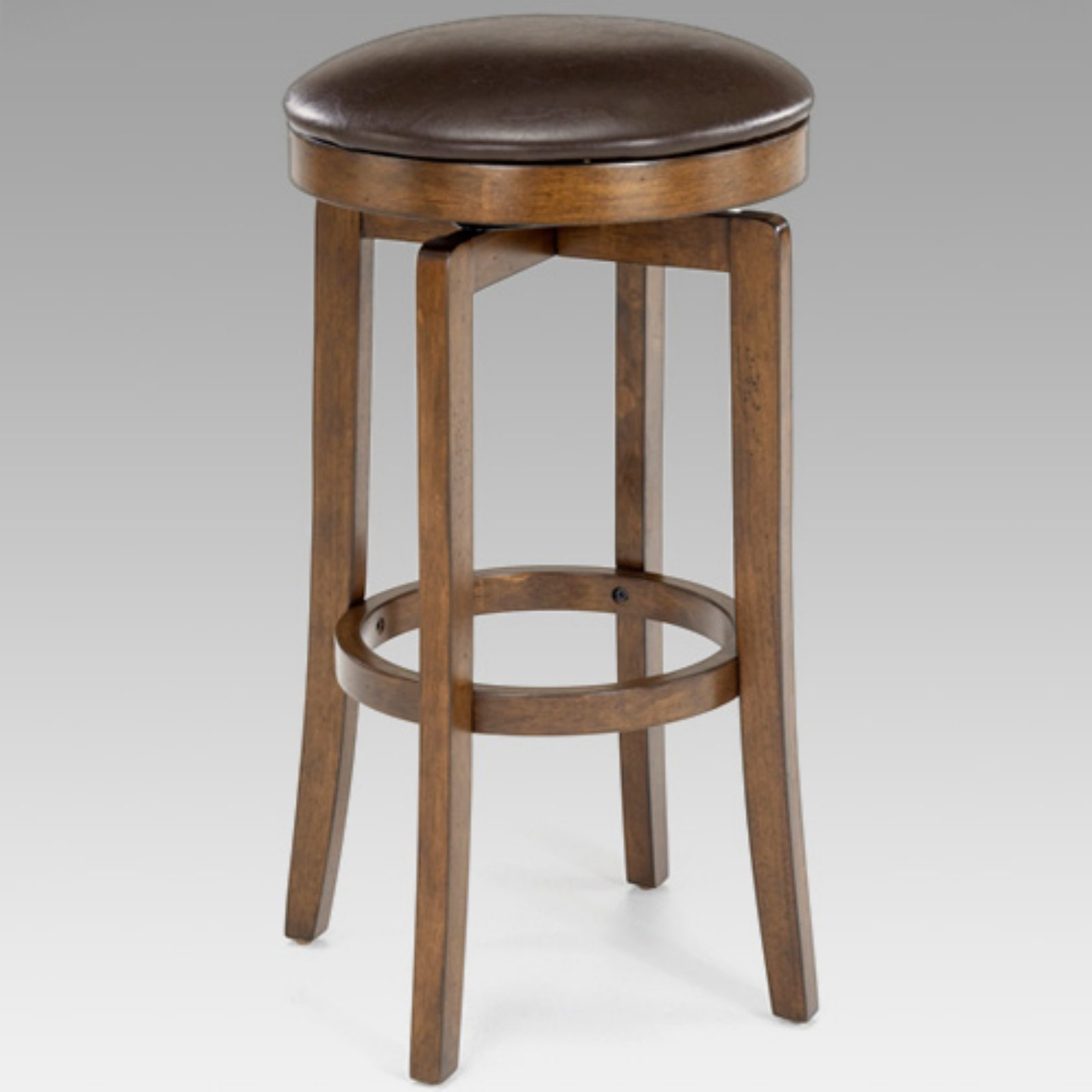 Brendan Backless Counter Stool, Brown Cherry