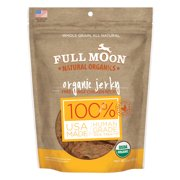 Full Moon Organic Human Grade Dog Treats, Chicken Jerky (Various Sizes)