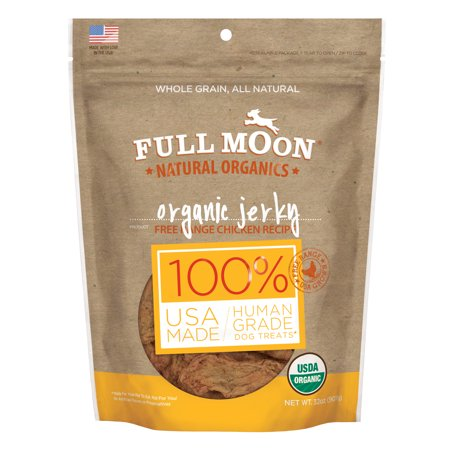 Full Moon All Natural Human Grade Dog Treats, Chicken Jerky, 32 Ounce](Halloween Moon Pie Treats)