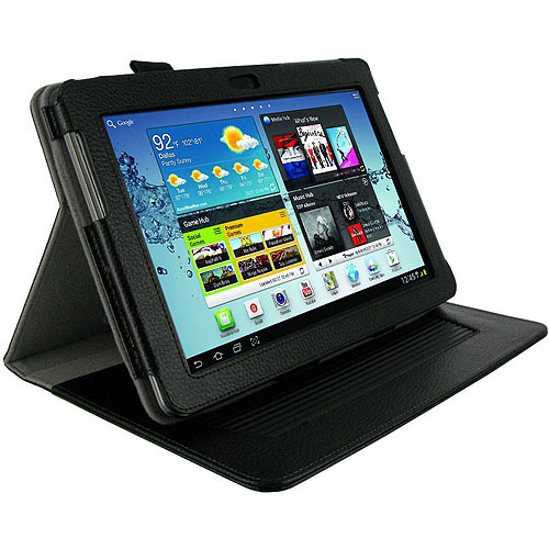 Dual-Axis Leather Case for Samsung GALAXY Tab 2 10.1