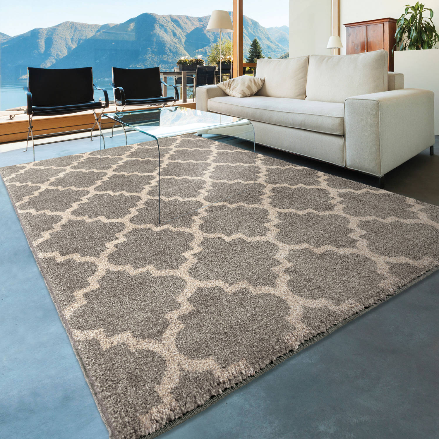 Orian Rugs Geometric Trellis Ginter Gray Area Rug