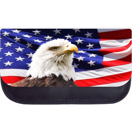 American Flag and Eagle  - Black Pencil Bag - Pencil Case