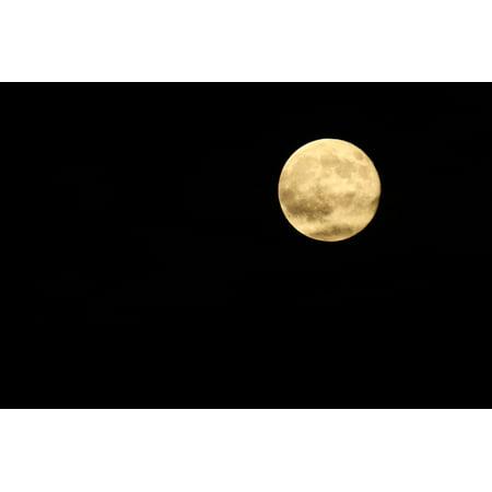 Framed Art For Your Wall Moon Dark Full Moon Sky Halloween Night 10x13 - Dark Halloween Art