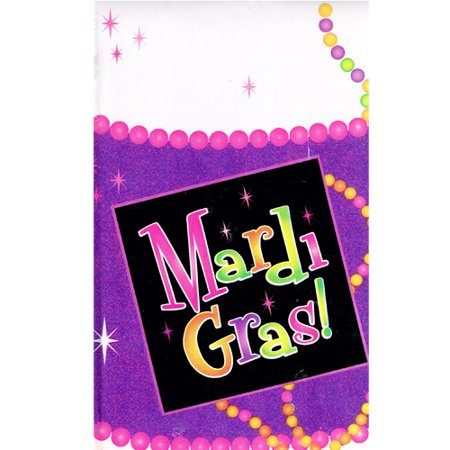 Mardi Gras 'Beads' Plastic Table Cover (1ct)
