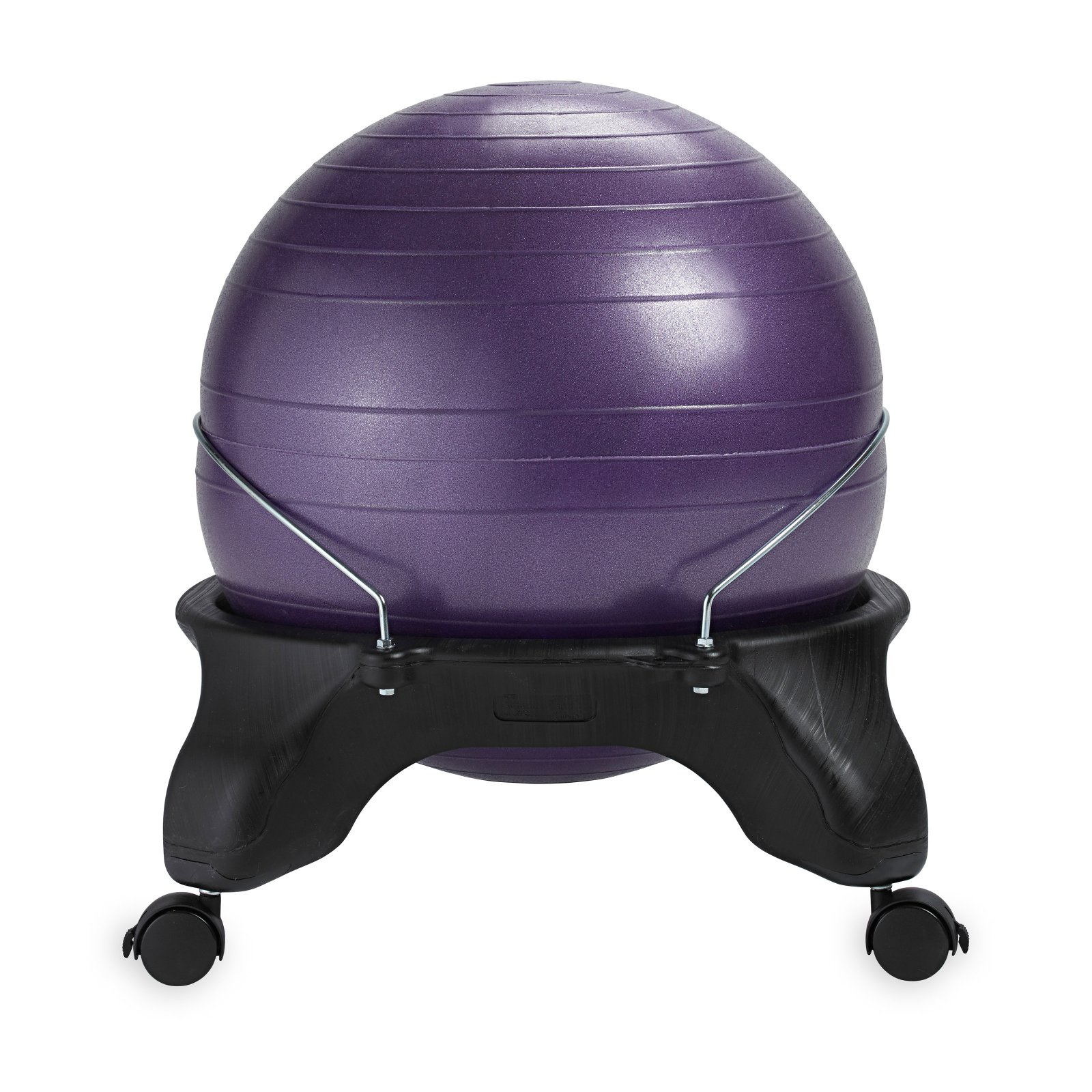 Gaiam Backless Balance Ball Chair, Purple