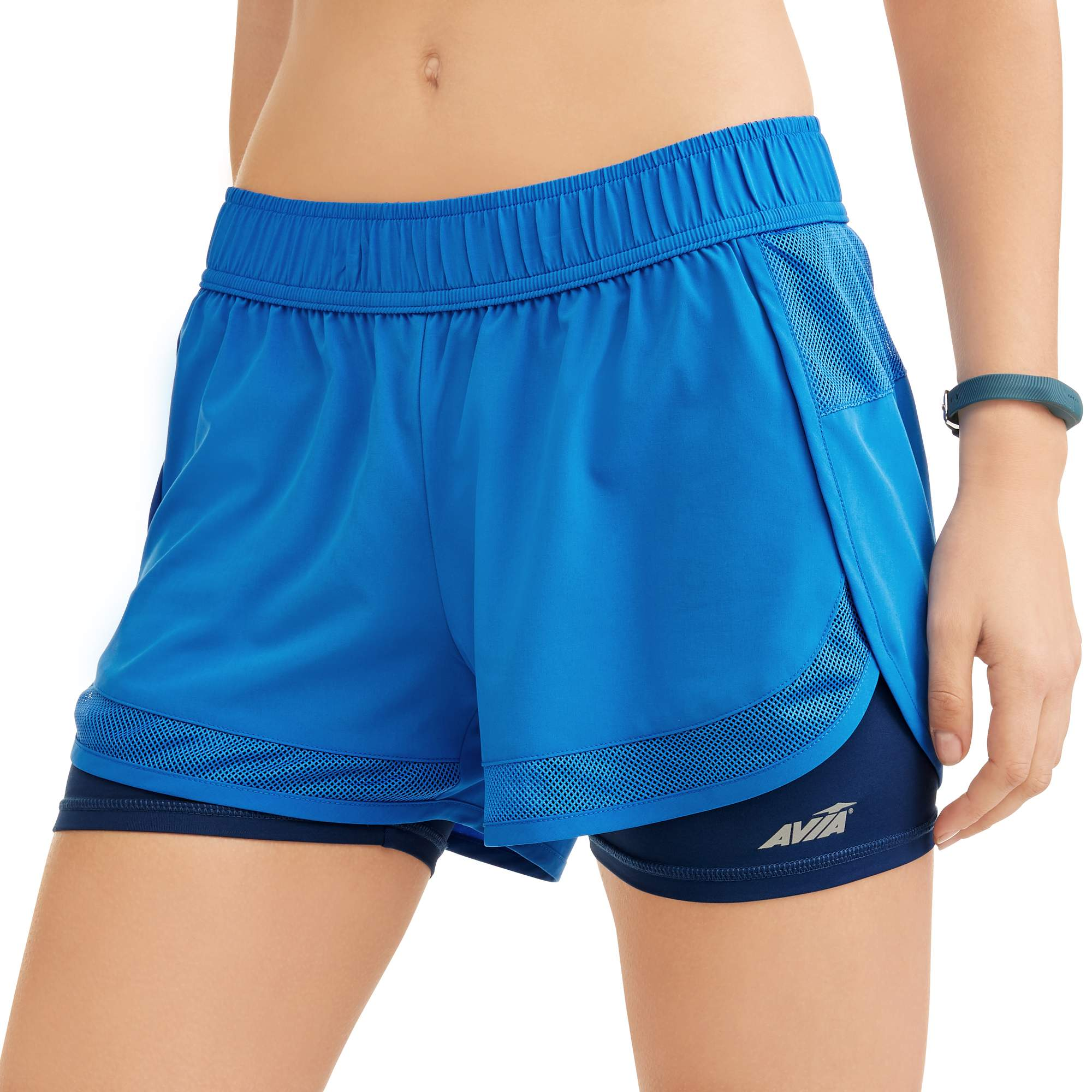 AVIA Women's Core Active Perforated 2fer Woven Running Short