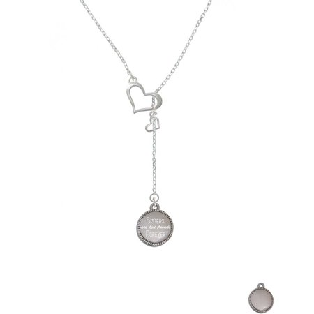 Stainless Steel Disc Sisters are Best Friends Forever - In My Heart Lariat