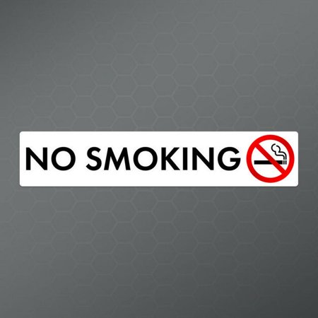 No Smoking Decal Sticker (4 Pack) | Cars Trucks Vans Windows Laptops Walls Cups | Printed | 4- 6 X 1.5 Inches | KCD1885 Window Decal Graphics
