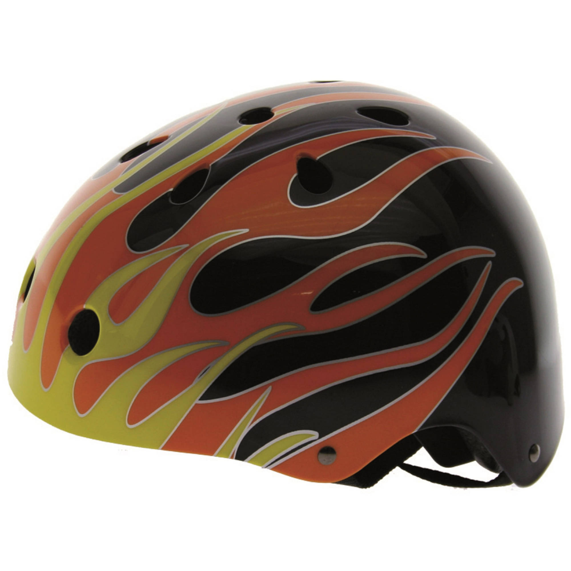 Ventura Black Flames Freestyle Helmet by Cycle Force Group