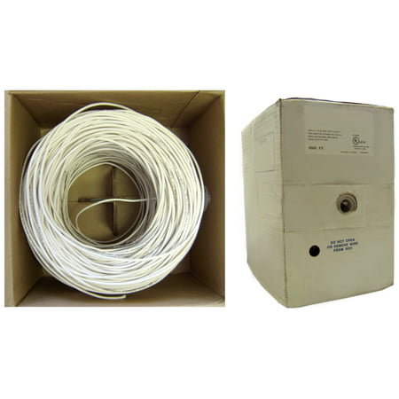 ACCL 1000ft Shielded Plenum Security Cable, 18/4 (18 AWG 4 Conductor), Stranded, CMP, Pullbox, White, 1pk