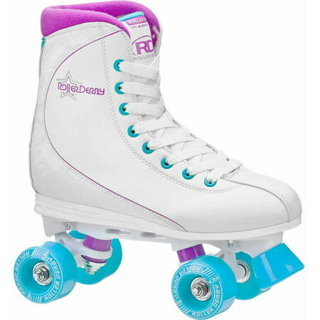 Roller Star 600 Women\'s Quad Skate, Purple/White/Baby Blue - Lighted Roller Skates