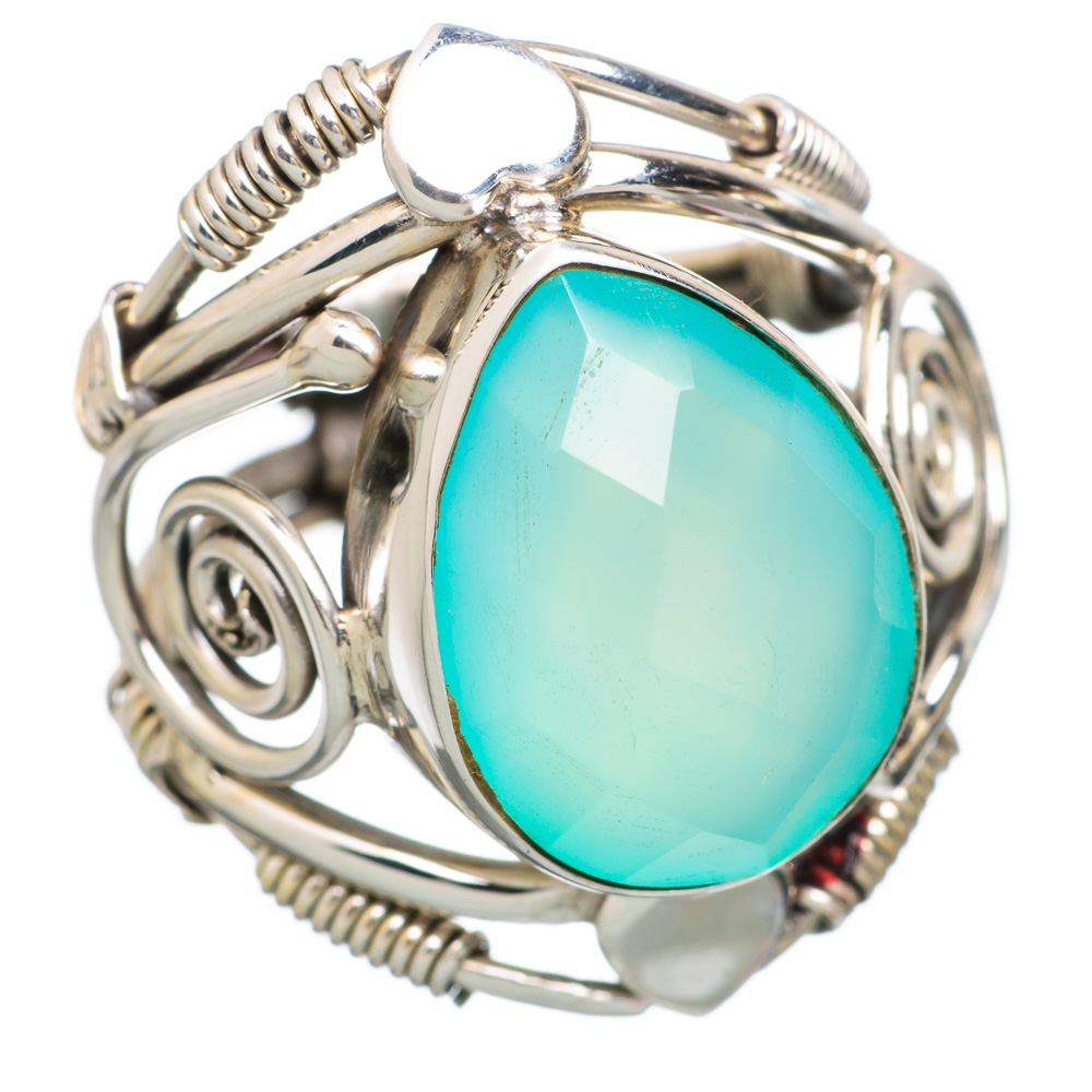 Ana Silver Co Aqua Chalcedony Heart 925 Sterling Silver Ring Size 6 RING815664 by Ana Silver Co.