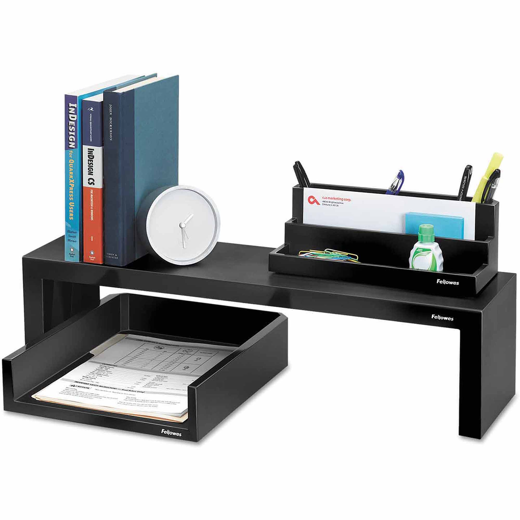 "Fellowes Designer Suites Shelf, 26"" x 7"" x 6.75"", Black Pearl"