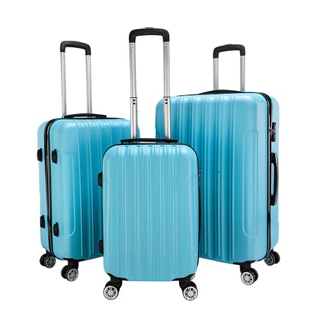 Carry on Luggage for Airplane, Trolley Luggage Sets w/ Spinner Wheels, TSA Lock, Lightweight Hard Case luggage, Large Capacity Traveling Storage Suitcase, Rolling Luggage for Women, Blue, W2501
