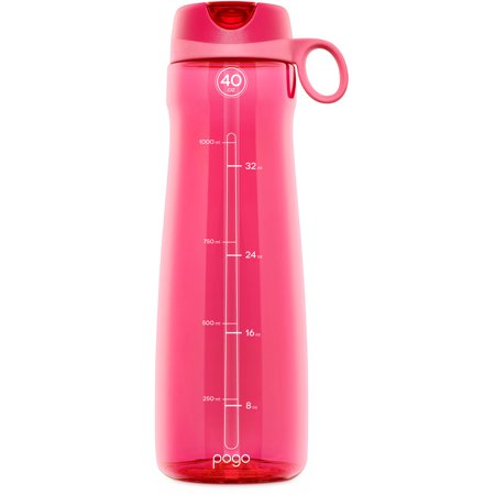 Pogo BPA-Free Plastic Water Bottle with Flip Straw