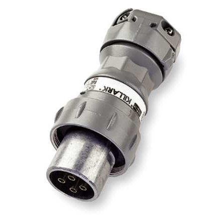 Pin & Slve Plug, 60A, 4P, 3W, 600VAC/250VDC HUBBELL KILLARK 4p 60a Plug