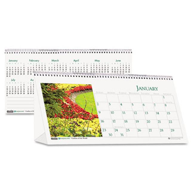 House Of Doolittle 309 Garden Photos Desk Tent Monthly Calendar  8-1/2 x 4-1/2