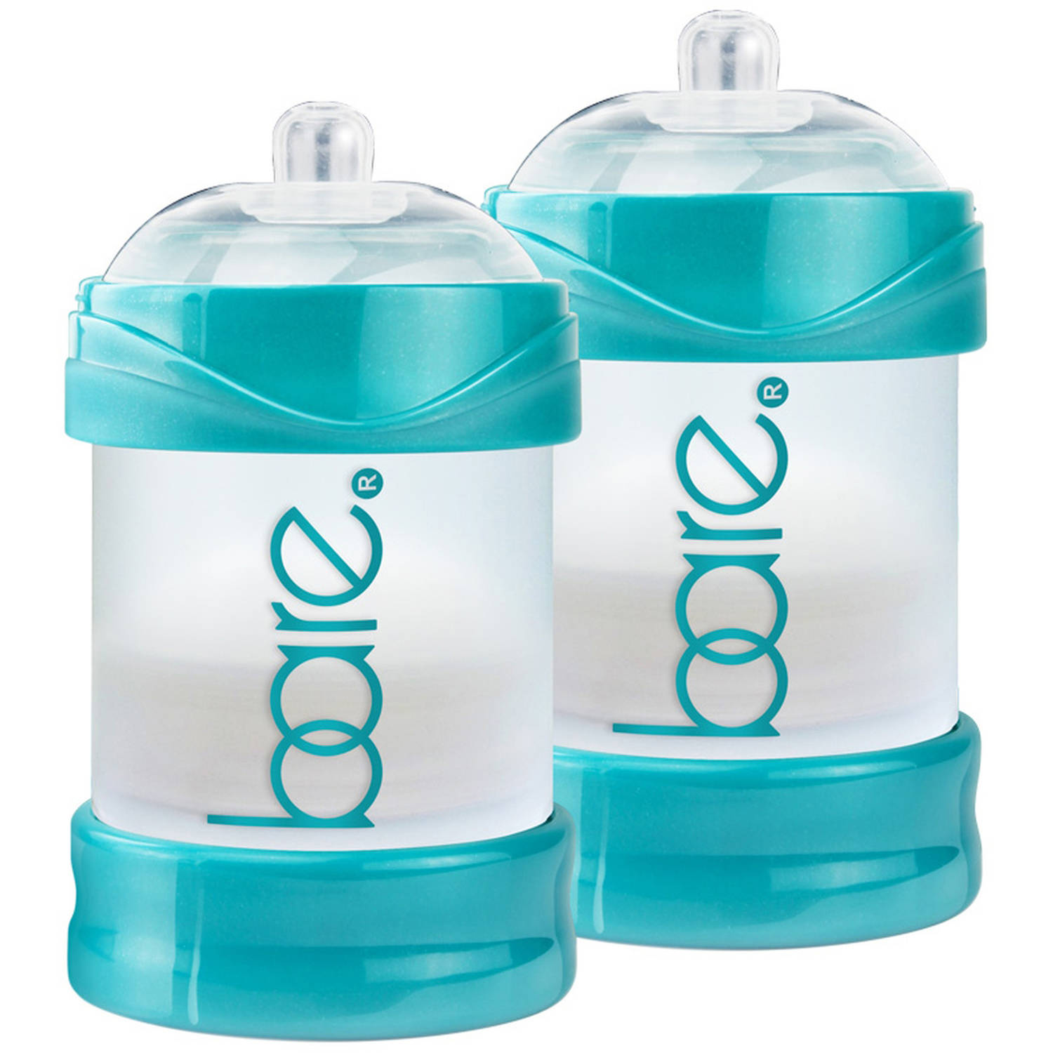 BARE Air-free 4oz Twin Pack with Perfe-latch Nipples, Breast-like & Air-free by BARE AIR-FREE FEEDING SYSTEM