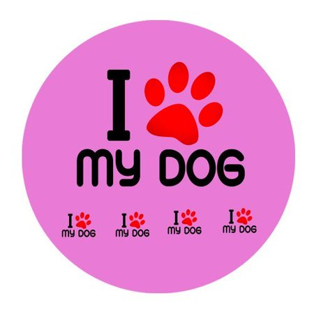 MKHERT I Love My Dog Round Mousepad Mat For Mouse Mice Size 7.87x7.87